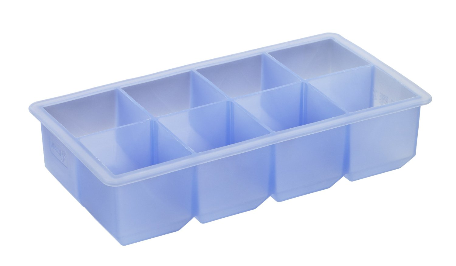 CUVETE GELO CUBO 5X5CM AZUL SILICONE